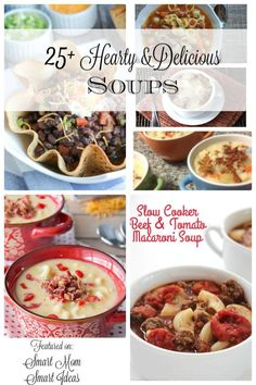 Don't miss these 25+ delicious and hearty soups! Classic soup recipes your family will enjoy again and again.