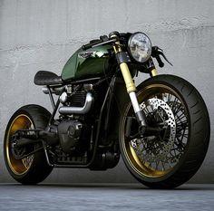 regram @ziggymoto Gold and green ;) Tag your friends! - - - Follow @_travelersmx for travel inspiration #custombike #caferacersofinstagram #croig #caferacerxxx #bobber #chopper #scrambler #tracker #bikes #mexico #motorcycles #instabike #instapic #latepost #follow #caferacers #ducati #losperdidos #bikesofig #custombuilt #honda #caferacer #cb750 #sportster #panhead #ironhead #classic #inspiration #lifestyle