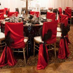 10 Unique Chair decoration/ Quinceanera/ Wedding decoration/ Gatsby/ feather/ Masquerade/ Mardi Gras - New Site Wedding Chair Decorations, Wedding Chairs, Decoration Table, Mascarade Party Decorations, Red Table Decorations, Mardi Gras, Masquerade Wedding, Masquerade Ball, Masquerade Theme