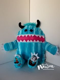 Cuddle Monster Pillow CAPTAIN JACK zipper by MostlyMonstersCV, $27.95