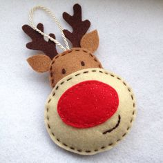 Felt Rudolph the red-nosed reindeer by SewMeSomethingSweet on Etsy