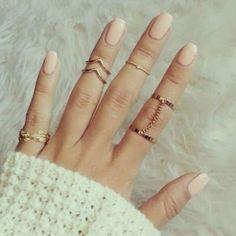 2015 Nouveau 6 unités/lot Punk style or brillant empilage midi finger knuckle anneaux charme anneau bijoux feuille Septembre intérieur