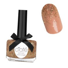Holiday Manicures: The Prettiest Nail Art Ideas to Try Now - Glitter Ombre Tips from #InStyle