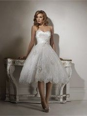I love short wedding dresses by magpiesmash