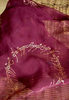 Hand Painted Silk Scarf Lord of the Ring Gift by EmeraldCloud
