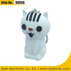 Cat Light-up and Sound LED Keychains Toy Games  c832d9a9a