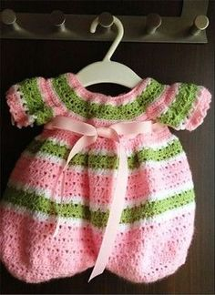 Free Crochet Pattern - Lollipop Romper / Craftown / comes in S, M or L / FREE CROCHET pattern
