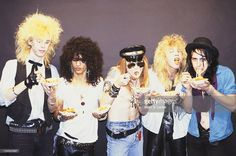 Slash, Duff McKagan, Axl Rose, Izzy Stradlin and Steven Adler of the rock group 'Guns n' Roses' pose for a portrait in October 1985 in Los Angeles, California.