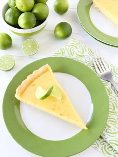 Vegetarian Low FODMAP Recipe and Gluten Free Recipe - Lime Tart - http://www.ibscuro.com/lime_tart.html