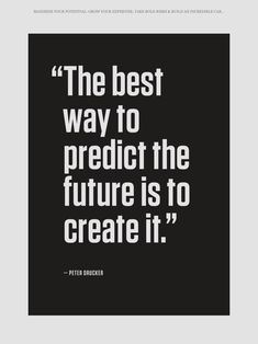 Create your own Future. Inspirational and motivational quotes about life and future. - @mobile9