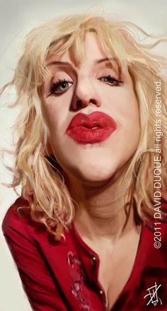 Caricatura de Courtney Love.  ~ Ʀεƥɪииεð вƴ╭•⊰✿ © Ʀσxʌиʌ Ƭʌиʌ ✿⊱•╮