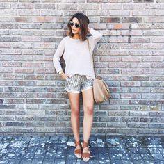 spring + shorts + short hair