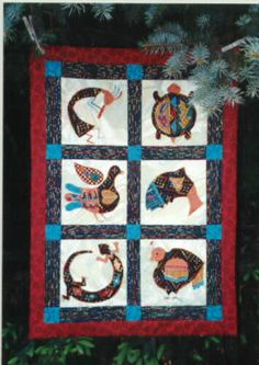 Sundance ~Six Native American Motifs - Directions for x quilt - Two sizes or blocks Applique Quilt Patterns, Animal Quilts, Nativity, Native American, Blanket, Painting, Animals, Art, Art Background