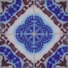 France Pas De Calais - Desvres Tiles - Vernacular Aesthetic Style - 1840 to 1900 - Ceramic Tiles
