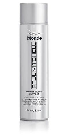 от ЖЕЛТИЗНЫ шампунь Forever Blonde Shampoo 8.5 oz.- в нем нет сульфатов. То есть, помимо прочего, он подходит волосам с кератиновым выпрямлением. Достаточно хорошо промывает волосы, хотя и не до скрипа (как это делают, например, L'Oréal, Lush и Davines), оставляет их мягкими и блестящими и совсем не сушит. Если пользоваться им регулярно -да, действительно нейтрализует желтизну в волосах
