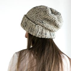 WISDOM : Women's Slouchy Hat Knitting Pattern – Brome Fields