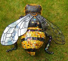 Beedazzled Mixed Media Mosaic Sculpture. ©Pat Mitchell 2015 Available from the artist.