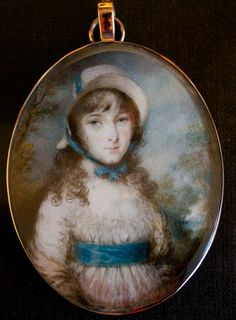 A Young Girl wearing a bonnet by ENGLISH SCHOOL : The British Antique Dealers' Association