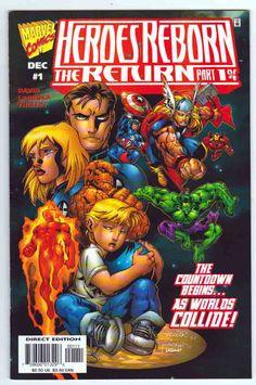 Heroes Reborn The Return #1 (1997)  Salvador Larroca Cover.  Peter David Story. Salvador Larroca Pencils.