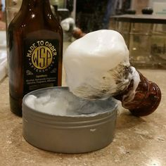 Shave of the day. Latest batch of wsp shave cream.