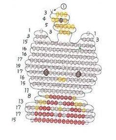 Free Brick Stitch Patterns | bead pattern melting beads hello kitty nerd pattern with glasses