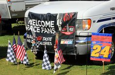 Come camp with us!  This is our motor home at the Coke Zero 400 July 2012 at DIS!!  :)