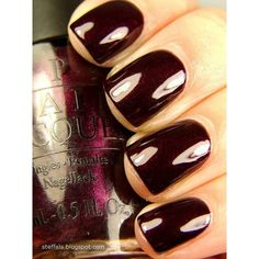 OPI Black Cherry Chutney and BB Couture Erotic Night found on Polyvore featuring polyvore, beauty products, nail care, nails, cosmetics, makeup, opi and opi nail care