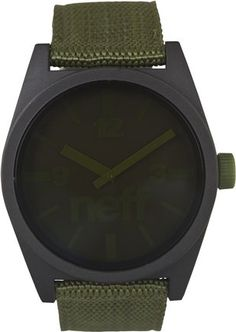 Men's Holiday Gift Guide Feature -   NEFF DAILY WOVEN WATCH   Neff webbed cotton watch  Multicolor watch  Large display with two tone hands  ABS case  Adjustable army green woven nylon band  50m water resistance  #SurfGifts #Gifts #GiftsforHim #PerfectGifts #MensGifts #MensFashion #Neff