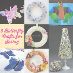 8 Butterfly #Crafts for Spring