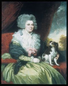 Lady with a Dog, Mather Brown, 1786