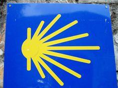 The ever-present scallop shell of El Camino de Santiago de Compostella, Spain.  www.finisterra.ca