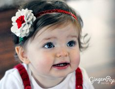 Christmas Flower Headband by GingerpopBoutique, $13.00