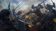 Fantasy artwork art warrior knight fighting battle g. Fantasy Battle, High Fantasy, Fantasy Warrior, Medieval Fantasy, Fantasy World, Armadura Medieval, Fantasy Concept Art, Fantasy Artwork, Dungeons And Dragons