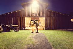 sparkler love in front of the barn, photo by christinakarstphotography.com