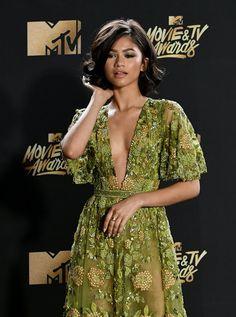 Zendaya Coleman at the MTV awards 2017 red carpet