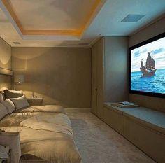 built-in storage, surround sound, lighting. carpet, velvet