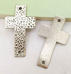 Sideways Cross Charms 5pcs Antique Silver Large by DIYBeadshop, $3.50   etsy