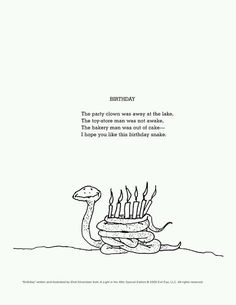 My Favorite Shel Silverstein poem I found in 2nd grade. Of