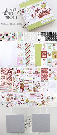 Dezembertagebuch Online Workshop von Daniela Peuß-Manzke für www.danipeuss.de Scrapbooking Weihnachtstagebuch Materialkit