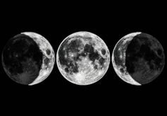Black and White Full Moon moon Witch Demon symbol witchcraft black white Goddess wiccan pagan wicca Triple Goddess Symbol, Goddess Symbols, Moon Symbols, Pagan Symbols, Religion Wicca, Tattoo Mond, Maiden Mother Crone, Tattoos Infinity, Triple Moon