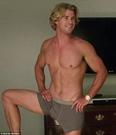 'We went bigger, bold!' Chris Hemsworth revealed at the Vacation premiere in LA on Tuesday that his scene stealing moment in his underwear was aided by the biggest prosthetic penis they could find