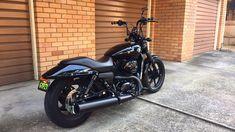 Harley Davidson Street 500 #street500 #screamingeagle #harleydavidson #harley #custom #australia #customstreet #750 #harleystreet500 #harleystreet750 #friscobars #slammed #allblack