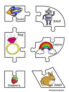 These unique capital letter alphabet puzzles feature a set of beginning sounds posters AND puzzle pieces that can be used to teach beginning sounds. Classroom Walls, Primary Classroom, Kindergarten Classroom, Classroom Decor, Dolch Sight Words, Sight Word Games, Pre-k Resources, Alphabet Names, Initial Sounds