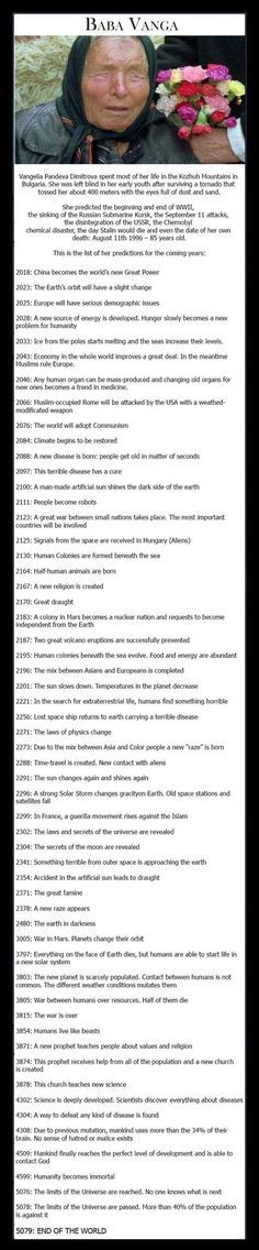 256 Best Prophecies  Nostradamus  Baba Vanga etc images in
