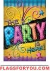 Party Here Garden Flag Party Flags, House Flags, Garden Flags, House Party, Home And Garden, Decor, Decoration, Home Parties, Decorating