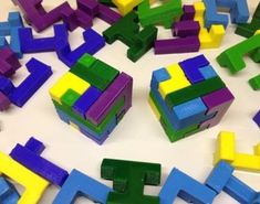 Pin Printable Interlocking Puzzle #2 3D Printing 17167