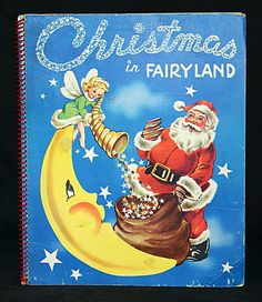 Christmas in Fairyland Vintage Childrens Story Santa Claus Pop Ups Fairy Queen