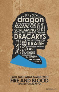 New Game of Thrones Daenerys Targaryen Quote Poster #daenerys #gameofthrones