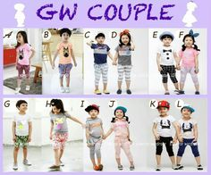 GW COUPLE SIZE 95-140 FIT TO 2T-7T