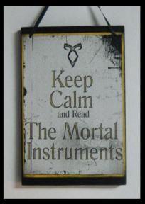 Mortal Instruments plaque $7.99